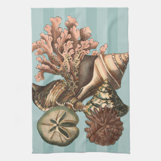Silueta de la vida marina toallas