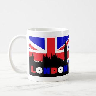 Silueta de Londres Taza De Café