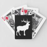 Silueta de los alces barajas de cartas