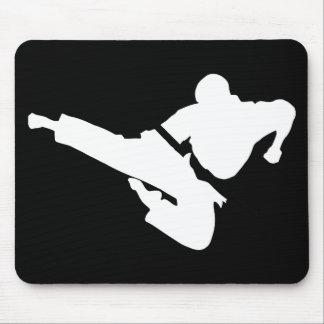 silueta de los artes marciales tapetes de raton