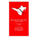 silueta de los artes marciales tarjeta de visita