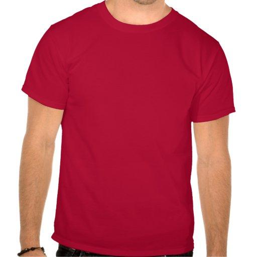 Silueta de los ciervos - rojo y blanco camisetas