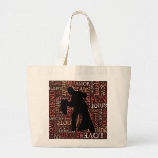 Silueta de los pares del baile de salón de baile,  bolsas