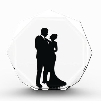 Silueta de los pares del boda