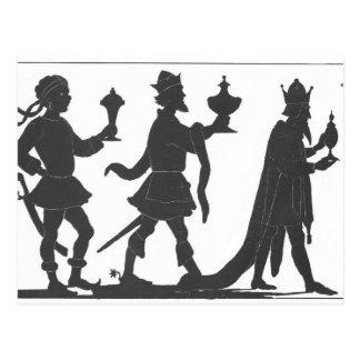 Silueta de los tres reyes tarjetas postales