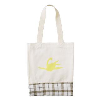 Silueta de Macroplata (amarillo) Bolsa Tote Zazzle HEART