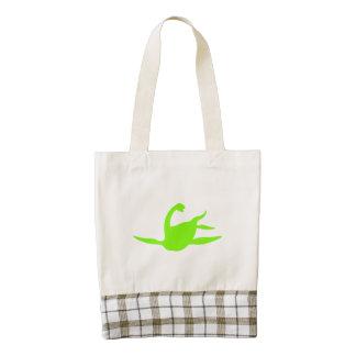 Silueta de Macroplata (verde) Bolsa Tote Zazzle HEART