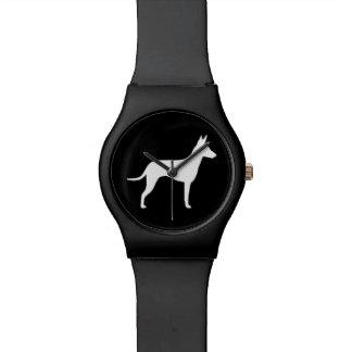 Silueta de Manchester Terrier Relojes