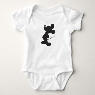 Silueta de Mickey Mouse Mameluco De Bebé