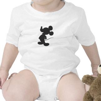 Silueta de Mickey Mouse Trajes De Bebé