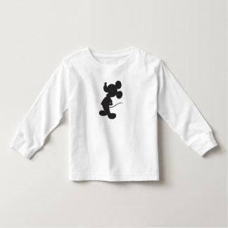 Silueta de Mickey Mouse Playera De Bebé