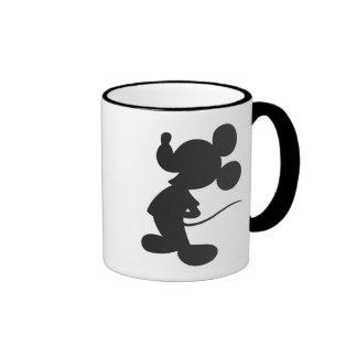 Silueta de Mickey Mouse Taza A Dos Colores