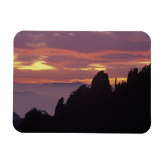 Silueta de Mt. Huangshan (montaña amarilla) en Iman Flexible