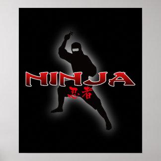 Silueta de Ninja Impresiones