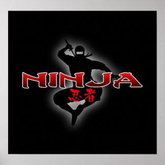 Silueta de Ninja Posters
