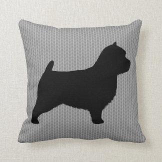 Silueta de Norwich Terrier Cojín