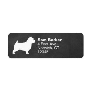 Silueta de Norwich Terrier Etiqueta De Remite