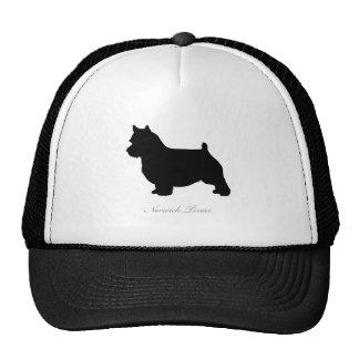 Silueta de Norwich Terrier Gorros Bordados