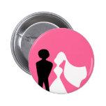 Silueta de novia y del novio que casa el Pin