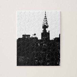 Silueta de Nueva York del arte pop Puzzle