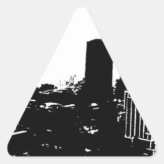 Silueta de Nueva York Pegatina Triangular