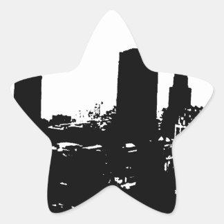 Silueta de Nueva York Pegatina En Forma De Estrella