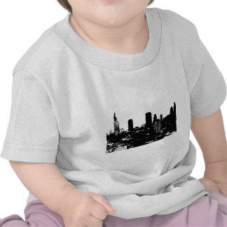 Silueta de Nueva York Camisetas