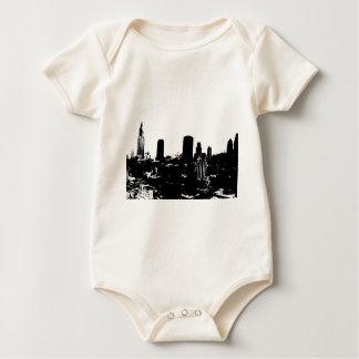 Silueta de Nueva York Traje De Bebé