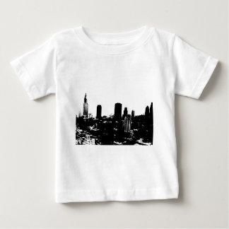 Silueta de Nueva York Remeras