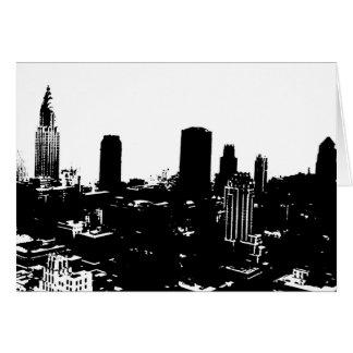 Silueta de Nueva York Tarjeta De Felicitación