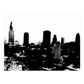Silueta de Nueva York Tarjeta Postal