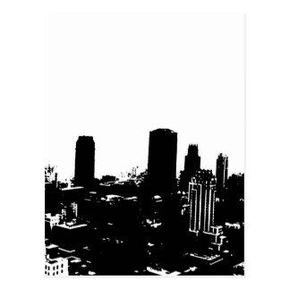 Silueta de Nueva York Tarjetas Postales