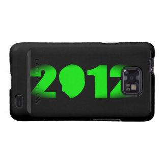 Silueta de Obama 2012 Samsung Galaxy S2 Carcasas