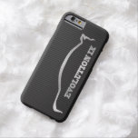 Silueta de plata de Mitsubishi Evo IX y falso Funda Para iPhone 6 Barely There