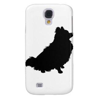Silueta de Pomeranian Funda Para Galaxy S4