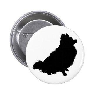 Silueta de Pomeranian Pins