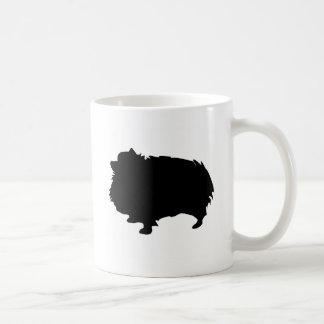 Silueta de Pomeranian Taza Clásica
