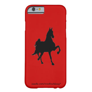 Silueta de Saddlebred Funda Para iPhone 6 Barely There