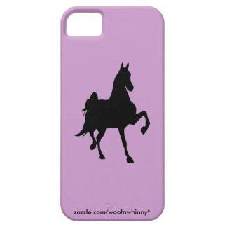 Silueta de Saddlebred iPhone 5 Funda