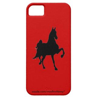 Silueta de Saddlebred iPhone 5 Fundas
