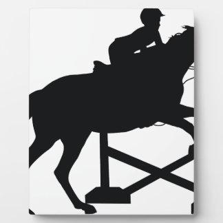 Silueta de salto del caballo placas con fotos