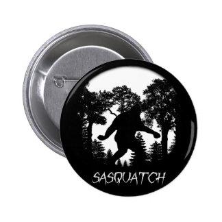 Silueta de Sasquatch Pin Redondo De 2 Pulgadas