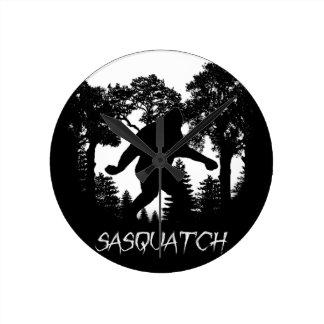 Silueta de Sasquatch Reloj