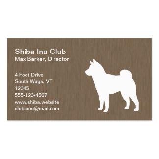 Silueta de Shiba Inu Tarjetas De Visita