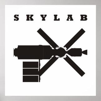 Silueta de Skylab Póster