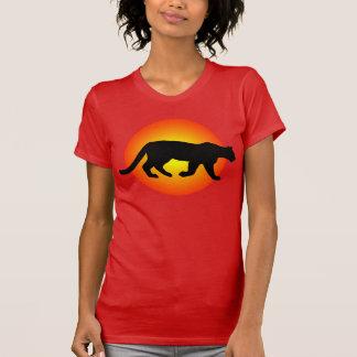 Silueta de Sunfire del puma del puma del león de Remeras