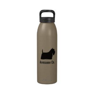 Silueta de Terrier del escocés con el texto de enc Botellas De Beber