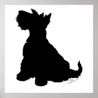 Silueta de Terrier del escocés Posters