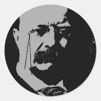 Silueta de Theodore Roosevelt Pegatina Redonda