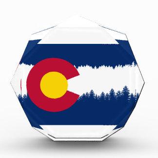 Silueta de Treeline de la bandera de Colorado